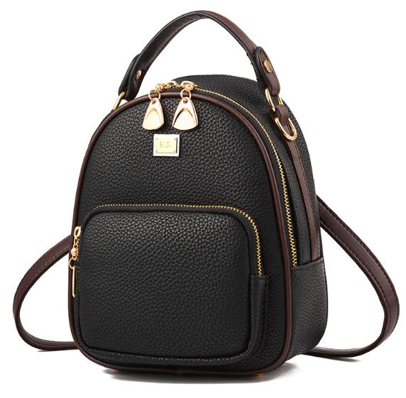 d4d2a17d6497 Купить Рюкзак женский кожзама мини сумку Belladonna Чёрный недорого ...