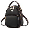 Рюкзак женский кожзам мини сумка Belladonna Черный