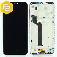 Экран дисплей Xiaomi Mi A2 lite Черный, рамка + модуль LCD + сенсор