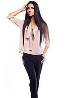 (S, M, L) Жіноча бежева блузка Avrora