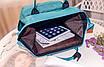 Женский рюкзак сумка городской школьный Living Зеленый, фото 6