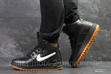 Кроссовки Nike Air Force LF-1 черные с белым (зима). Код 6651