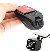 Универсальный Wi-Fi видеорегистратор на две камеры FHD 1080P Novatek 96658, Сенсор Sony IMX 323
