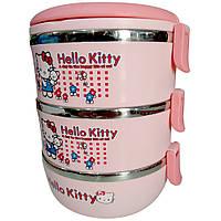 Детский ланч бокс Hello Kitty на 3 контейнера