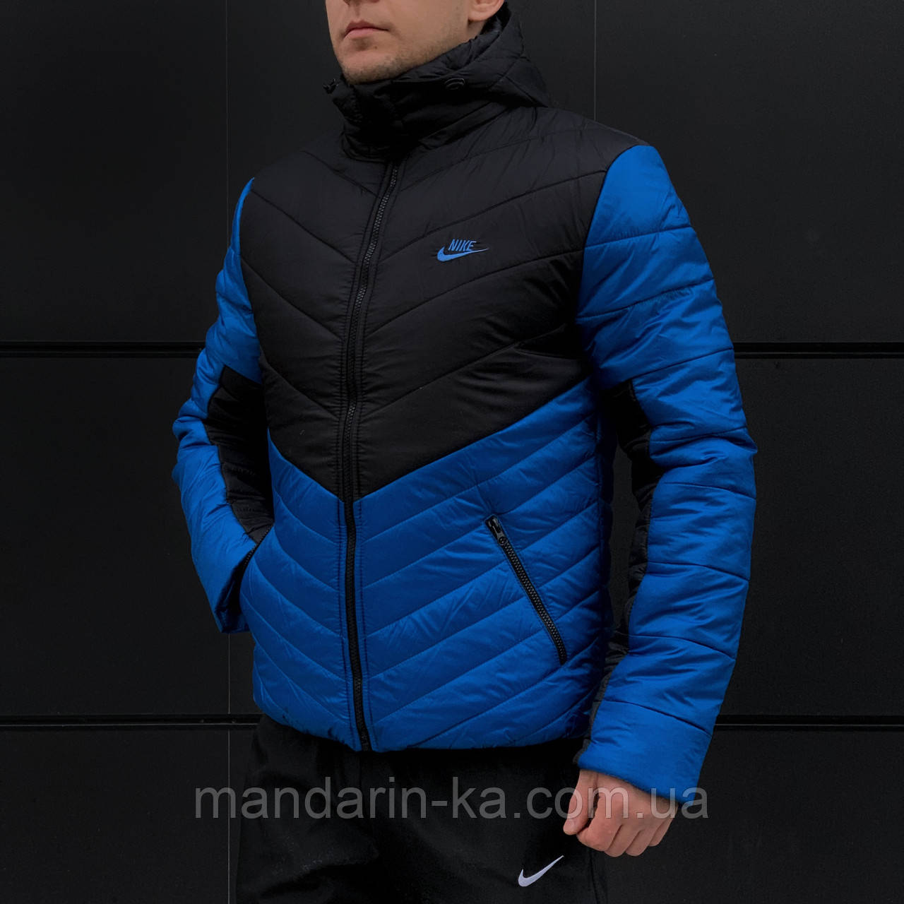feb03ea2 Зимняя мужская куртка Nike Найк сине черная (реплика) размер XXL, цена 1  050 грн., купить в Киеве — Prom.ua (ID#802454241)