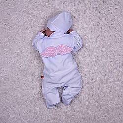 Нарядный комбинезончик c крыльями Angel (розовый)