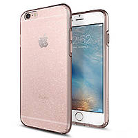 Чехол Spigen для iPhone 6s / 6 Liquid Shine Glitter, Rose Crystal, фото 1