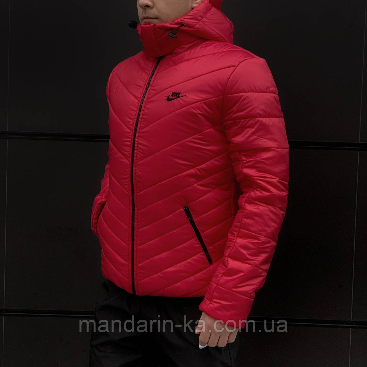 Куртка мужская зимняя красная Nike Найк (реплика)