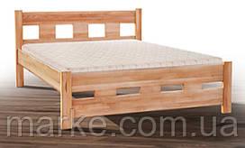 Ліжко двоспальне дерево 160 Space горіх Мікс меблі