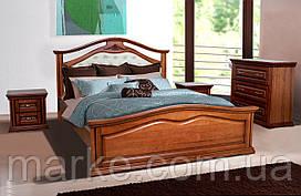 Ліжко двоспальне Маргарита 1,8 м вільха масив