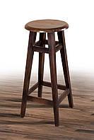 Табурет барный круглый деревянный