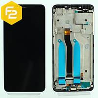 Экран дисплей Xiaomi Redmi 6 Черный, рамка + модуль LCD + сенсор