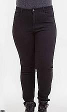 Джинсы утепленные 87143 черный Турция с 50 по 60 размер баталл (мш)
