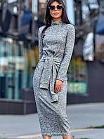 Женское облегающее ангоровое платье-миди (Линдаjd)