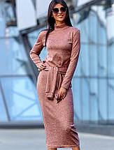 Женское облегающее ангоровое платье-миди (Линдаjd), фото 2