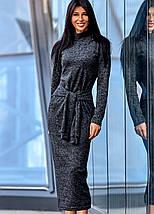 Женское облегающее ангоровое платье-миди (Линдаjd), фото 3