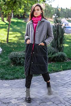 Оригинальное женское пальто на кнопках