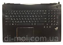Оригинальная клавиатура для ноутбука Asus G750 series, rus, black, подсветка