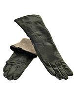 Шкіряні жіночі рукавички МариClassic на шерсті(сітка) оптом 40см