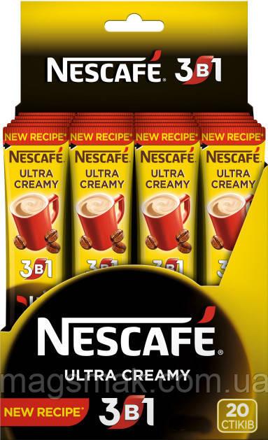 Напиток кофейный быстрорастворимый NESCAFE 3 в 1 Ultra Creamy 20 x 13 г