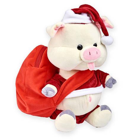 """Сладкий мягкий новогодний подарок """"Свинка Санта"""" 500 гр., фото 2"""
