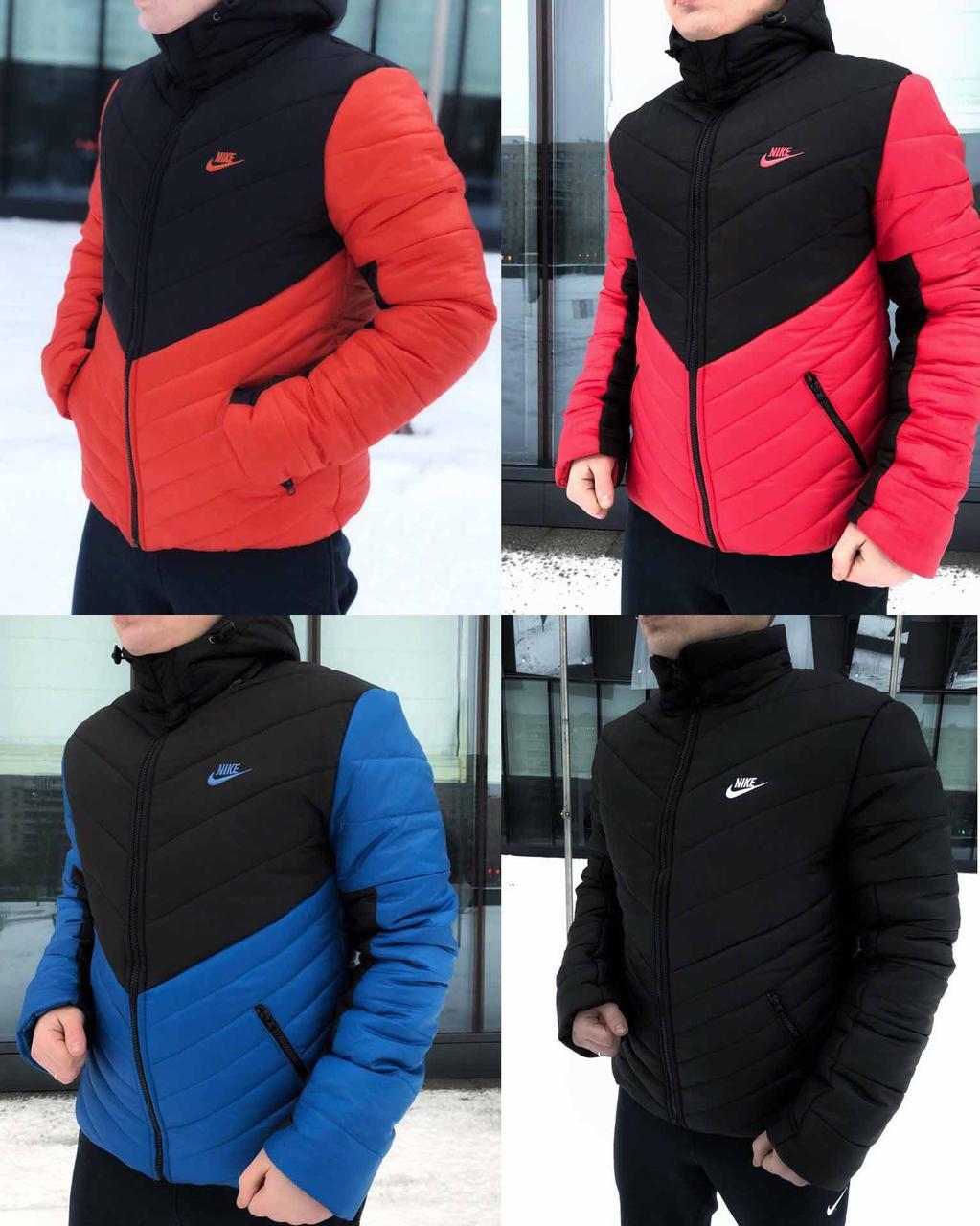 18f91423 Мужская зимняя куртка/пуховик в стиле Nike 5 цветов в наличии -  Интернет-магазин