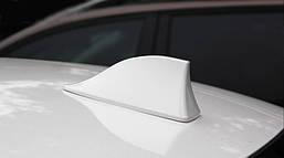 Акулий плавник на крышу автомобиля Белый. FM антенна плавник на крышу авто White