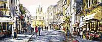 Картина-раскраска DIY Babylon Триптих Летний вечер в Париже (VPT026) 50 х 150 см