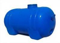 Емкость горизонтальная, пищевая  125л, 900х440х480см, голубая, ф-24 см,  К