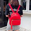 Рюкзак женский кожзам с кисточкой Fendi Красный, фото 2