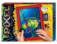 Пиксельная мозайка -  Рыбка.