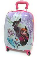 Дитячий чемодан дорожній Холодне Серце, Frozen, Анна і Ельза на чотирьох колесах 520323