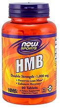 Гидроксиметилбутират, HMB, Now Foods, HMB 1000mg, 90 tabs
