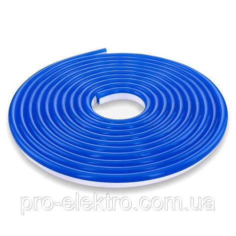 Светодиодный NEON 12V smd 3528 120°LEDs/m120  <8W 8*16IP65 Синий, фото 2