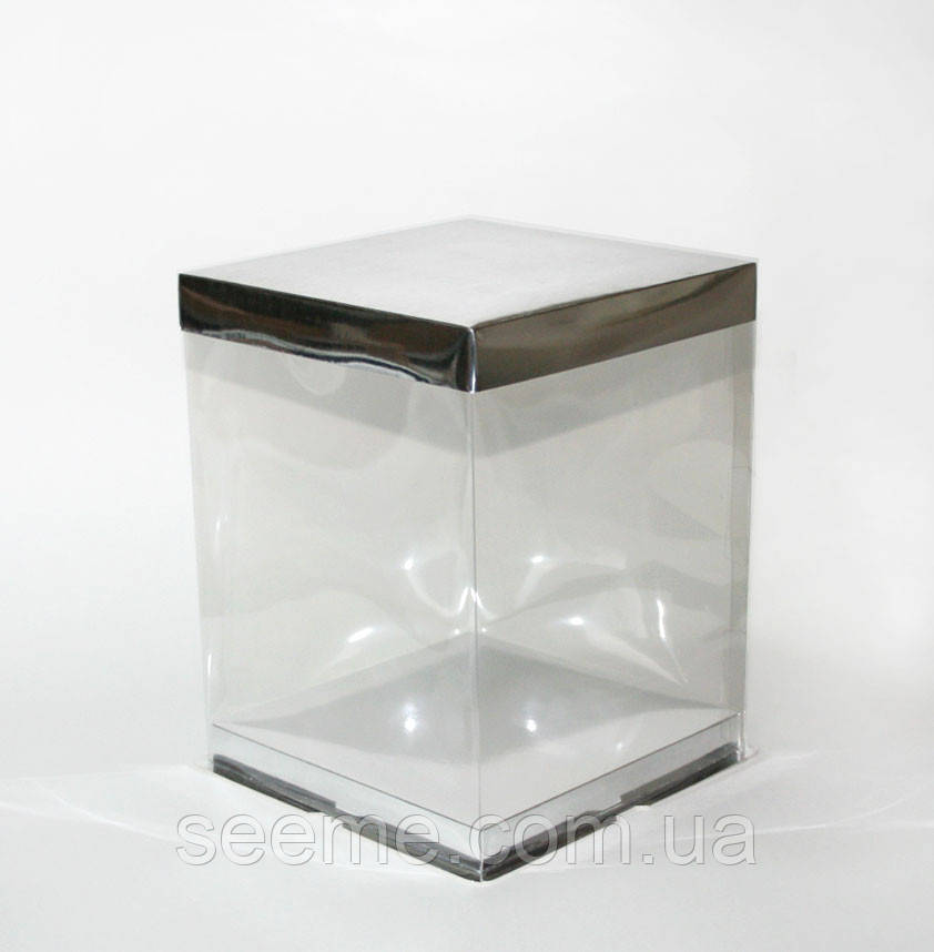 Коробка 220х220х270 мм, цвет серебряный