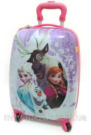 Детский чемодан дорожный Холодное Сердце, Frozen, Анна и Эльза, фото 2