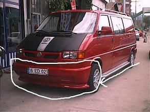 Накладка на передний бампер (под покраску) Volkswagen T4