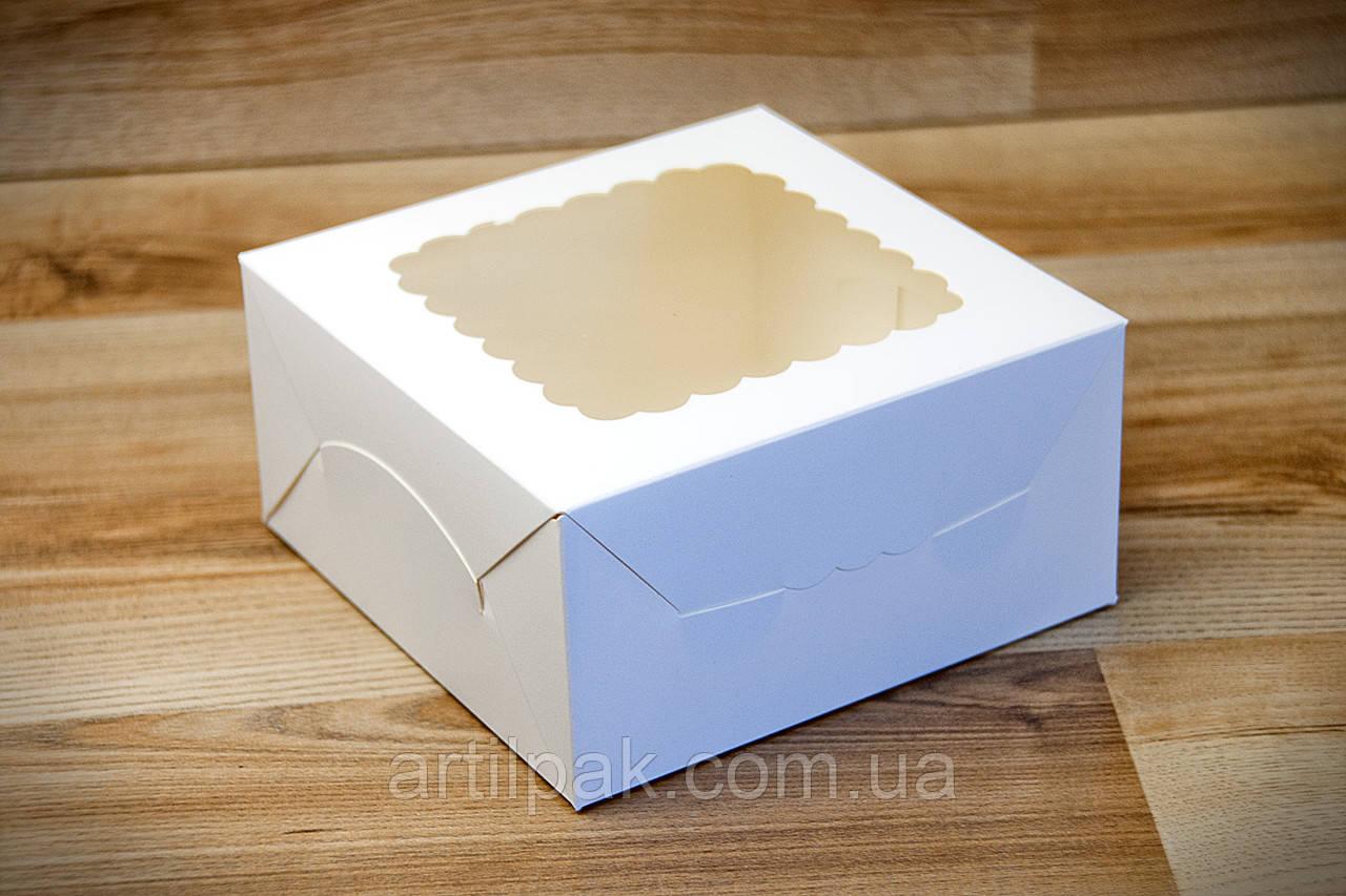 Коробка для тістечок та міні-торту 140*140*70 Біла