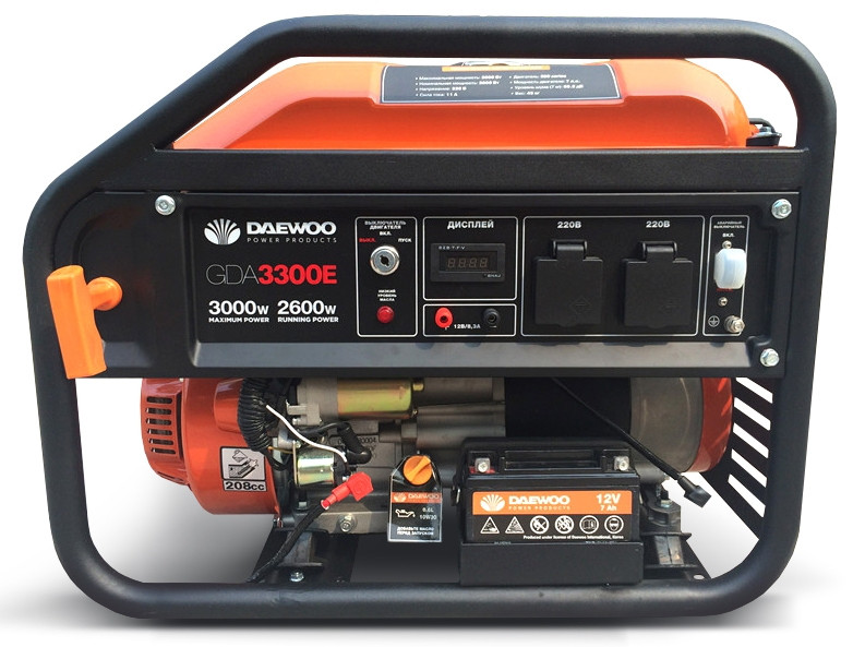Бензиновый генератор Daewoo GDA 3300Е