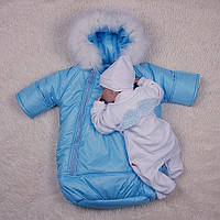 Набор на выписку Космонавт+Angel, голубой, фото 1