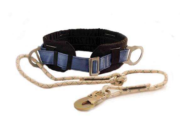 Пояс предохранительный безлямочный со стропом из плетенного шнура 6ПБ