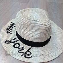 Летняя шляпа панама New York