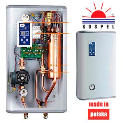 Котел электрический EKCO.L-4, (4 кВт, 3x380В) с программатором KOSPEL, фото 1