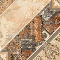 43х43 Керамическая плитка пол коричневый темный Carpets