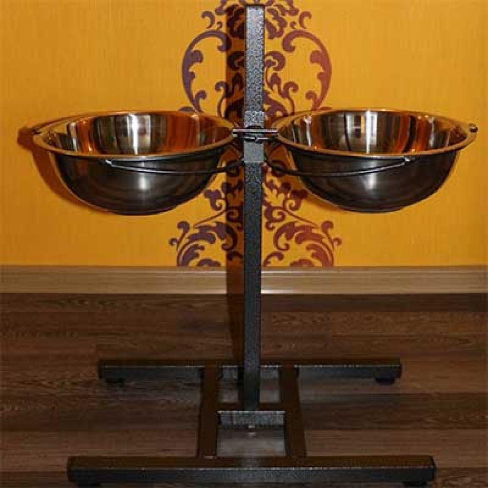 AnimAll (Энимал) стойка с мисками усиленная (2х3,0 литра, высота 65 см)