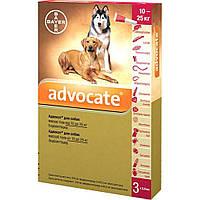 Bayer (Байер) Адвокат - для собак 10-25кг (упаковка 3 пипетки, цена за 1 пипетку).