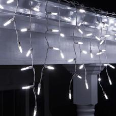 Новогодняя гирлянда DELUX ICICLE 90LED 2x0.5 белая/белый кабель, внешняя, фото 3