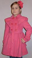 """Детская одежда .   Пальто кашемировое  """"Оборка"""" розовое., фото 1"""