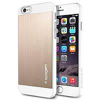 Чехол Spigen для iPhone 6s / 6 Aluminum Fit, Champagne Gold, фото 1