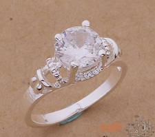 """Кольцо """"White stone"""" Sterling Silver VSH"""